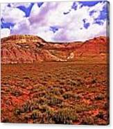 Colorful Mesas At Fossil Butte Nm Butte Canvas Print