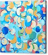 Colorful Partial Eclipses Canvas Print