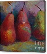 Colorful Pears Canvas Print