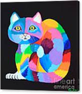 Colorful Rainbow Cat Canvas Print