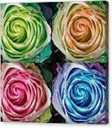 Colorful Rose Spirals Canvas Print
