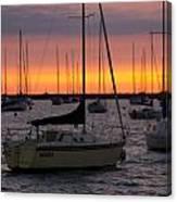 Colorful Skies At This Harbor Canvas Print