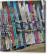 Colorful Snow Skis Canvas Print