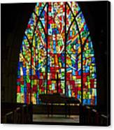 Colorful Stained Glass Chapel Window Canvas Print