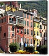 Colorful Vernazza Canvas Print