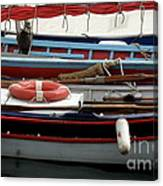 Colorful Wooden Boats Canvas Print
