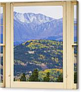 Colorful Rocky Mountain Autumn Picture Window View Canvas Print