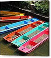 Colourful Punts Canvas Print