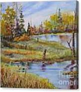 colours Of Elk Island Canvas Print