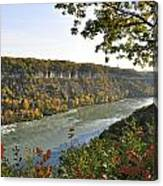 Colours Of The Fall In The Niagara Glen Canvas Print