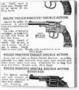 Colt Revolvers Canvas Print