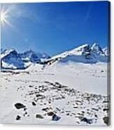 Columbia Icefield In Winter, Jasper Canvas Print