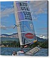 Columbia River Gorge Sailboat Racing Canvas Print