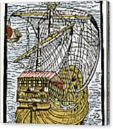 Columbus's Ship The Santa Maria Canvas Print