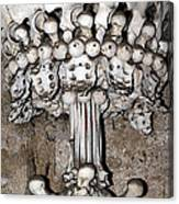 Column From Human Bones And Sku Canvas Print