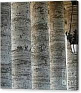 Columns And Hanging Lamp Canvas Print