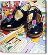 Comic Shoes Canvas Print