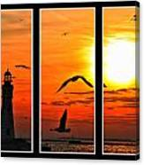 Coming Home Sunset Triptych Series Canvas Print