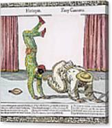 Commedia Delarte, 18th C Canvas Print