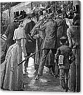 Commuter Rush Hour, 1890 Canvas Print