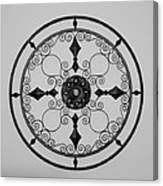Compass In Black And White Canvas Print