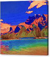 Complementary Mountains Canvas Print
