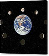 Composite Image Of The Phases Of The Moon Canvas Print