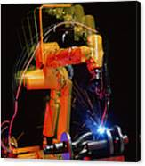 Computer-controlled Electric Arc-welding Robot Canvas Print