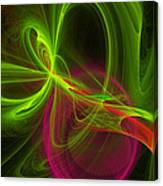 Computer Generated Green Magenta Abstract Fractal Modern Art Canvas Print