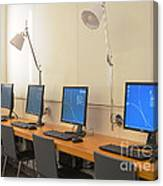 Computer Lab In A Simulation Medical Canvas Print