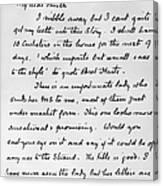 Conan Doyle: Letter Canvas Print