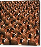 Conceptual Computer Artwork Of Human Cloning Canvas Print