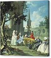 Concert In A Garden Canvas Print