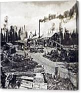 Concord New Hampshire - Logging Camp - C 1925 Canvas Print