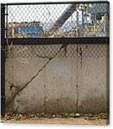 Concrete And Rusty Fence Canvas Print