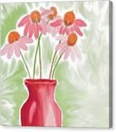 Coneflower Still Life Canvas Print