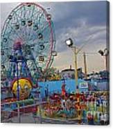 Coney Island Amusements Canvas Print