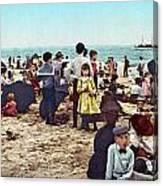 Coney Island: Beach, C1902 Canvas Print