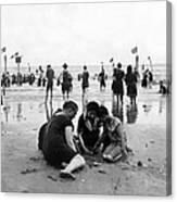 Coney Island Beach Goers - C 1906 Canvas Print