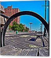 Coney Island Bench View Canvas Print