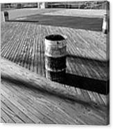 Coney Island Boardwalk In Black And White Canvas Print