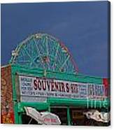Coney Island Facade Canvas Print
