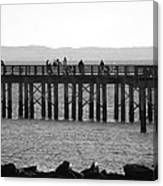 Coney Island Pier In Black And White Canvas Print