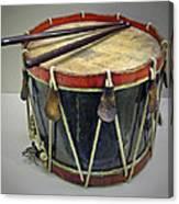 Confederate Drum Canvas Print