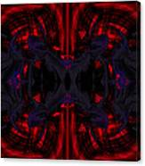 Conjoint - Crimson And Royal. Canvas Print