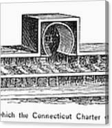 Connecticut: Charter Box Canvas Print