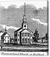 Connecticut: Church, 1836 Canvas Print
