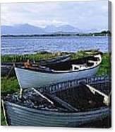 Connemara, Co Galway, Ireland Boats Canvas Print