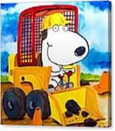 Construction Dogs Canvas Print
