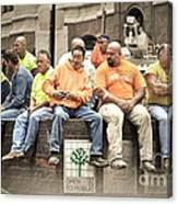 Construction Workers One World Trade Center Canvas Print